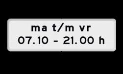 Verkeersbord Onderbord - Geldt alleen voor periode Verkeersbord RVV OB203p - Onderbord - Geldt alleen voor periode OB203p