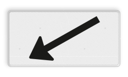 Verkeersbord Onderbord - Verwijzing rijbaan of parkeervak Verkeersbord RVV OB504l - Onderbord - Verwijzing rijbaan of parkeervak OB504l