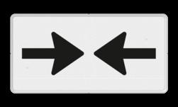 Verkeersbord Onderbord - Gevaar van 2 richtingen Verkeersbord RVV OB503 - Onderbord - Gevaar van 2 richtingen OB503