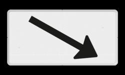 Verkeersbord Onderbord - Verwijzing rijbaan of parkeervak Verkeersbord RVV OB504r - Onderbord - Verwijzing rijbaan of parkeervak OB504r