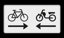 Verkeersbord Onderbord - Kruising (brom)fietspad Verkeersbord RVV OB503OB04 - Onderbord - Kruising (brom)fietspad OB503OB04