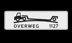 Verkeersbord Onderbord - Verhoogde overweg Verkeersbord RVV OB618 - Onderbord - Verhoogde overweg OB618 dieplader
