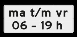 Verkeersbord Onderbord - Geldt alleen voor periode Verkeersbord RVV OB206p1 - Onderbord - Geldt alleen voor periode OB206p
