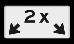 Verkeersbord Onderbord - Geldt voor aantal aangegeven vakken Verkeersbord RVV OBE04 - Onderbord - OB504 OBE04