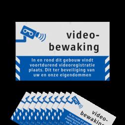 Product Videobewaking - In en rond dit gebouw vindt voortdurend videoregistratie plaats. Dit ter beveiliging van uw en onze eigendommen Video- camerabewaking - Raamstickers Reflecterend ( 10 stuks ) - BP06 video, camera, bewaking, stickers, reflecterend, beveiliging, eigendommen