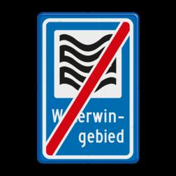 Verkeersbord Einde waterwingebied Verkeersbord RVV L304e - Waterwingebied - einde L304 Water, Waterwingebied, gebied, rust, rustgebied, natuur, L304b, L304