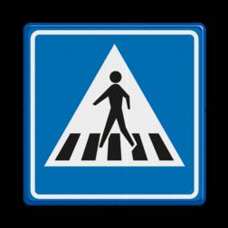Verkeersbord Voetgangers oversteekplaats / zebrapad Verkeersbord RVV L02 - Voetgangers oversteekplaats / zebrapad L02 oversteken, wandelen, voetganger, L2, zebrapad, oversteekplaats, oversteekplek