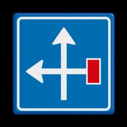 Verkeersbord Voorwaarschuwing doodlopende weg Verkeersbord RVV L09-4l - Doodlopende weg - voorwaarschuwing L09 doodlopende weg, l9, versperring, geen doorgang, L9, geen doorgaande weg, voorwaarschuwing, vooraanduiding