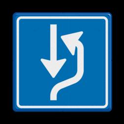 Verkeersbord Uitwijkplaats rechts van de weg Verkeersbord RVV L20 - uitwijkplaats rechts L20 L20, uitwijken, wachten