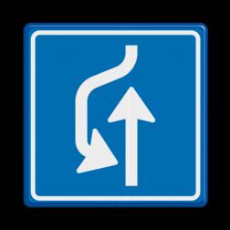 Verkeersbord Uitwijkplaats links van de weg Verkeersbord RVV L21 - uitwijkplaats links L21 L21, uitwijkplaats, uitwijken, uitwijkmogelijkheid