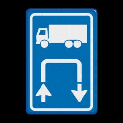 Inritbord Gelegenheid om te keren op terrein / Inritborden op boerenerven verbeteren verkeersveiligheid aanzienlijk Inritbord BT15r - vrachtwagens rechtsom BT15r keren op eigen terrein, niet keren op de openbare weg, E8, E08, E08cv, Inritbord, Inrit, vrachtwagens, Keren, Rechtsom