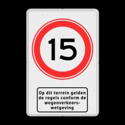 Verkeersbord RVV A01-xxx + picto - BT13 BT13 wegenverkeerswetgeving, regels, snelheid, toegang