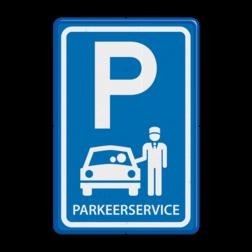 Verkeersbord Parkeerservice Verkeersbord RVV E08x - Parkeerservice - BT12 BT12 Parkeren, Parkeerservice, Service