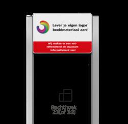 Portaalsysteem TS met informatiebord 3:2 met aluminium geborstelde staanders portaal, info, informatie, eigen, ontwerp, full, color, colour, luxe, systeem