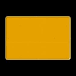 Omleidingsbord WIU geel FLUOR reflecterend
