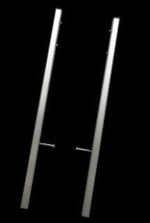 Montageframe TS3 staanders (30x30mm) - geborsteld aluminium - set 2 stuks