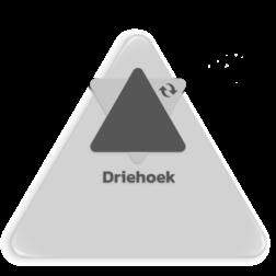 Basisbord omgezette rand - driehoek blank, blanco, halffabricaat, bord zonder, los bord, driehoek