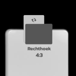 Basisbord omgezette rand - type 4:3 - rechthoek blank, blanco, onbeplakt verkeersbord, onafgewerkt bord, halffabrikaat, zelf beletteren, reclamebord, bordmodel