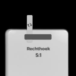 Basisbord omgezette rand - type 5:1 - rechthoek blank, blanco, onbeplakt verkeersbord, onafgewerkt bord, halffabrikaat, zelf beletteren, reclamebord, bordmodel