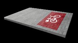 Markering - wegenverf -  speciaal ontwerp wegmarkering, grondmarkering, vloermarkering, vloer, markering, weg, grond, opladen, oplaad, elektrisch, parkeren, wegenverf, thermoplast, groen, blauw, parkeervak, belijning, symbool, pictogram, markeer, terrein, vloer, parkeergarage, garage, fiets, fietsen