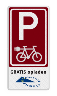 Product Eigen terrein + RVV E04 + 3 vrij invoerbare tekstregels +wegsleepregeling Parkeren e-bike - in huisstijl parkeren, wegslepen, eigen terrein, priveterrein,  parkeren,  eigen tekst, E4