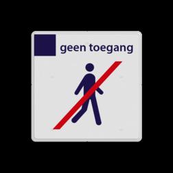Stationsbord NS - geen toegang Nederlandse Spoorwegen, verboden toegang