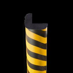 Randbescherming geel/zwart - hoek 30x30mm - zelfklevend of magnetisch randbescherming, stootbeveiliging