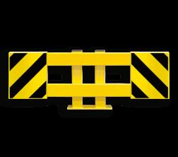 Stellingbeschermer Staal 900-1300mm - Black Bull aanrijdbeveiliging, magazijn bescherming, aanrijbeveiliging