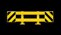Stellingbeschermer Staal 1700-2100mm - Black Bull aanrijbeveiliging, aanrijdbeveiliging, bescherming