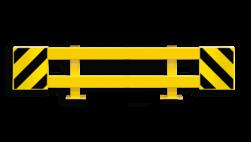 Stellingbeschermer Staal 2300-2700mm - Black Bull aanrijbeveiliging, aanrijdbeveiliging, beschermingsmiddelen