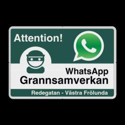 WhatsApp - Sweden - Attention! Grannsamverkan - L209wa-g Sweden, Zweden, Whats App, WhatsApp, watsapp, preventie, attentie, buurt, L209, wijkpreventie, straatpreventie, dorpspreventie