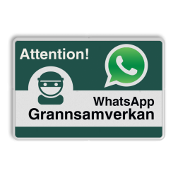 WhatsApp - Sweden - Attention! Grannsamverkan - L209wa Whats App, WhatsApp, watsapp, preventie, attentie, buurt, L209, buurtpreventie, wijkpreventie, straatpreventie, dorpspreventie, België, Belgisch, Belgische,