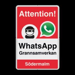 WhatsApp - Sweden - Attention! Grannsamverkan - L209wa-g Whats App, WhatsApp, watsapp, preventie, attentie, buurt, L209, wijkpreventie, straatpreventie, dorpspreventie