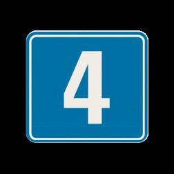Huisnummerbord reflecterend 119x109mm - Berlare Huisnummerbord, huisnummer, 119x109, Modern, Modern lettertype