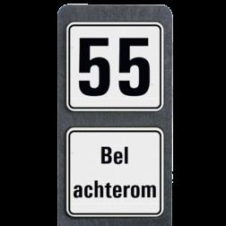 Huisnummerpaal met BORD Modern met tekst - klasse 3 buitengebied, huisnummer, nummer, huis, buiten, gebied, paal, Modern, huisnummerbord, Dubbel, , Huisnummerpaal, Huisnummerpalen