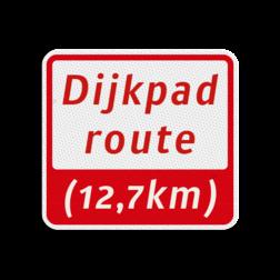 Hardlooproutebord 119x109mm met tekst - klasse 3 119x109, Hardlooproute, Route, Hardloop, huisnummerpaal