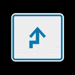 Kanoroutebord 119x109mm pijlfiguratie - klasse 3 119x109, Kanoroute, Route, Kano, huisnummerpaal, Pijl, Pijlverwijzing, Richting