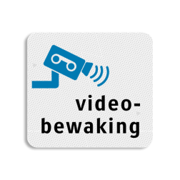 TBW  Videobewaking 119x109mm - klasse 3 Terreinbord, 119x109, Video, Bewaking