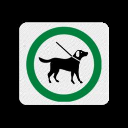 TBH Honden aangelijnd toegestaan 119x109mm - klasse 3 Terreinbord, 119x109, Hond, Honden, Toegestaan, Aangelijnd