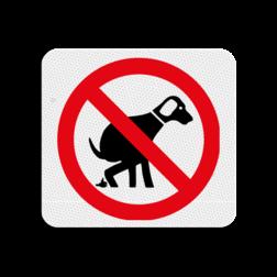 TBH Honden verboden uitlaten 119x109mm - klasse 3 Terreinbord, 119x109, Hond, Honden, Verboden, Uitlaten