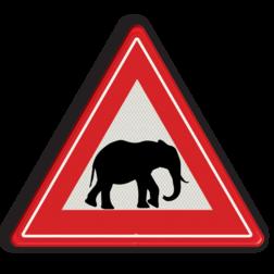 Informatiebord Overstekende poezen/katten Informatiebord overstekende olifanten poes, kat, dieren