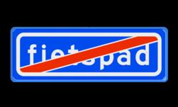 Verkeersbord Einde Onverplicht Fietspad Verkeersbord RVV G14, Einde onverplicht fietspad G14 einde, fietspad, G14, eind fietspad, onverplicht fietspad, niet verplicht fietspad