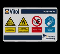 Informatiebord PBM - Eigen ontwerp - 1000x600mm Industrie, tank, terminal, safety, sign, tankopslag, olie, gevaarlijke stoffen