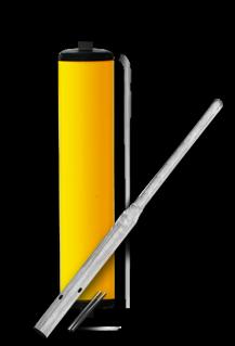Product Vluchtheuvelbaken BB22 Vluchtheuvelbaken RVV BB22 aluminium + deksels ø48mm of ø76mm BM21, BB22, vluchtheuvel, baken, gele zuil, middenberm, middengeleider, BM18, bm 18