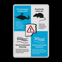 Informatiebord - Van brood gaan eenden dood - Model 01-Ratten Voeren, brood, ratten, blauwalg, botulisme, stank, kroos, vissterfte, Ziekte van Weil