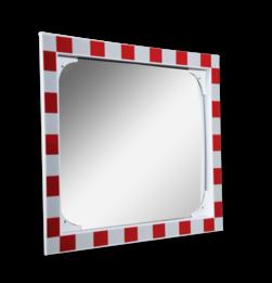 Anti-condens verkeersspiegel 800x600mm RVS Jislon, verkeerspiegel, veiligheidspiegel, veiligheidsspiegel, buitenspiegel, anti, condens, wasem, verkeersspiegel
