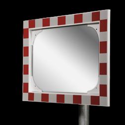 Verkeersspiegel acryl - 600x400mm - met opvallend rood/wit kader Jislon, verkeerspiegel, veiligheidspiegel, veiligheidsspiegel, buitenspiegel