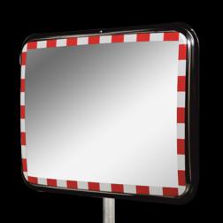 Verkeersspiegel RVS 1000x800 + beugelset Ø76mm verkeerspiegel, veiligheidspiegel, veiligheidsspiegel, buitenspiegel