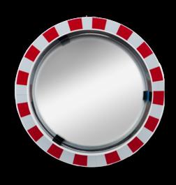 Verkeersspiegel Ø600mm acryl - grote kijkhoek Jislon, verkeerspiegel, veiligheidspiegel, veiligheidsspiegel, buitenspiegel, grote, kijkhoek, acryl, rood, wit, rand, attentie, reflecterend