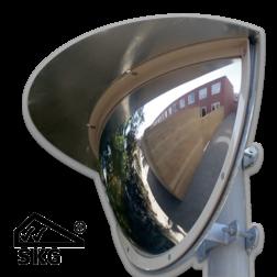 Kogelspiegel Ø600mm outdoor - kijkhoek 180° - SKG VV keurmerk Jislon, verkeerspiegel, veiligheidspiegel, veiligheidsspiegel, buitenspiegel, magazijnspiegel